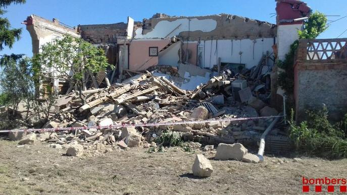 S'esfondra una casa a Vilanova de Bellpuig sense causar ferits