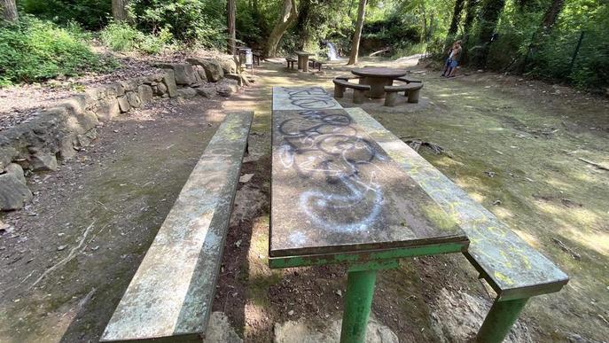 pintades que han aparegut al parc de la Font de Ferro de Sanaüja