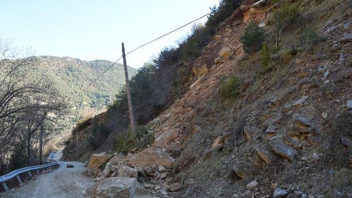 Obres per evitar despreniments en accessos a pobles de les Valls de Valira
