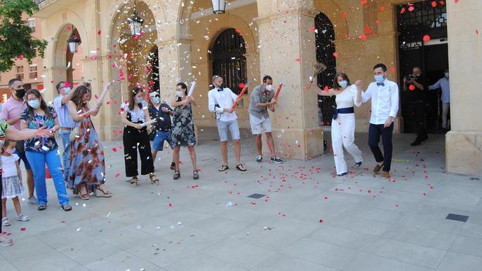 Mollerussa acull la primera boda al Pla en tres mesos