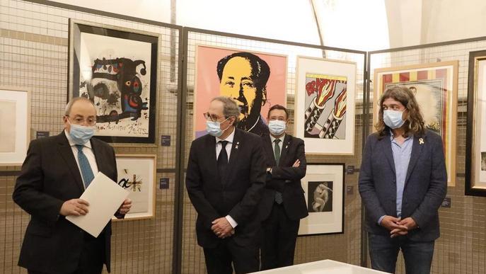 Visita 'oficial' als gravats de Gelonch al Museu de Lleida