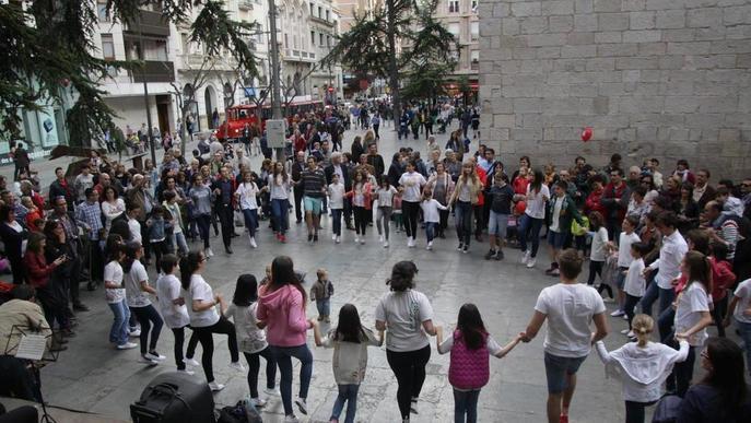 Sant Jordi d'estiu a Lleida, al Pati de les Comèdies