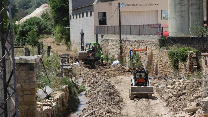 Vinaixa reposa 2 quilòmetres de canonada que el temporal de l'octubre va arrasar