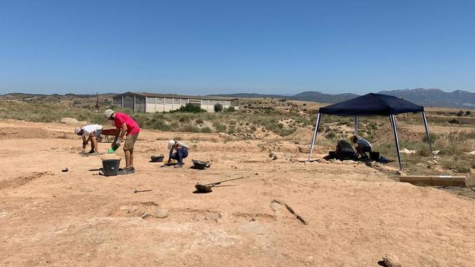 Tornen les excavacions al Pla d'Almatà de Balaguer