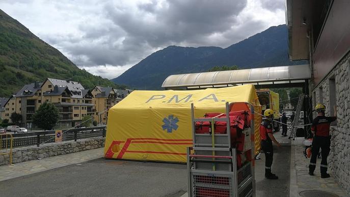 Hospital de campanya a Vielha per al cribratge de persones amb símptomes