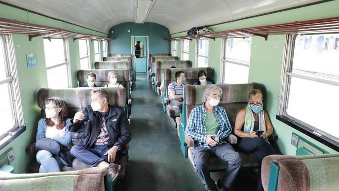 El Tren dels Llacs obre a la fi la temporada amb 111 passatgers i oferirà deu trajectes