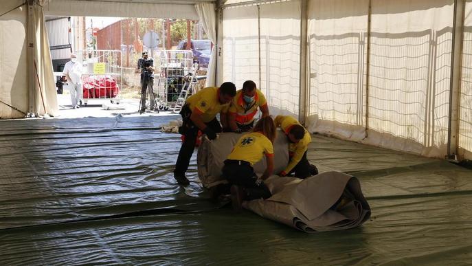 ⏯️ L'Arnau substitueix la carpa per quatre mòduls prefabricats i inicia obres de l'hospital annex