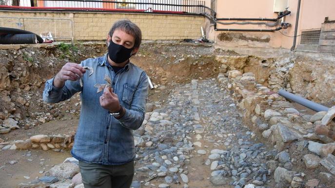 Obres al centre de la Seu destapen restes d'un barri del segle XIII