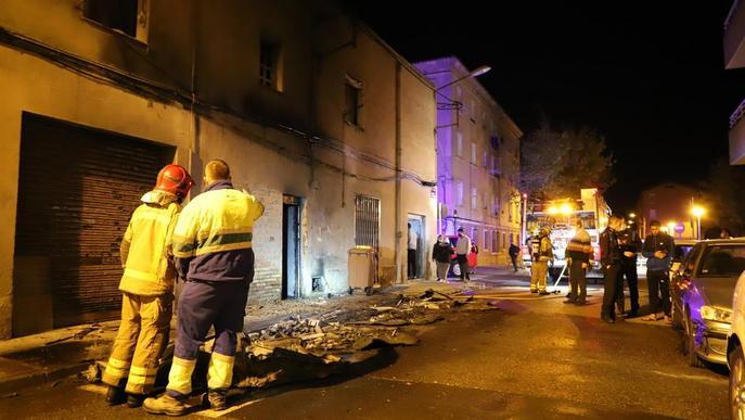 Urbana i Mossos investiguen la crema de contenidors a Pardinyes