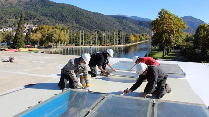 Plaques fotovoltaiques per al Parc Olímpic del Segre
