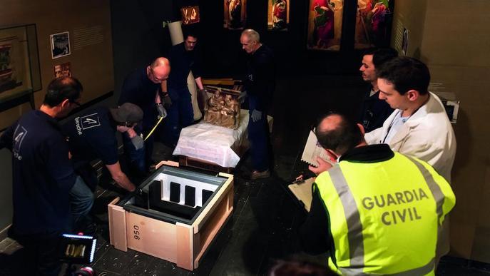 Tres anys de l''assalt' al Museu de Lleida per les 44 obres de Sixena