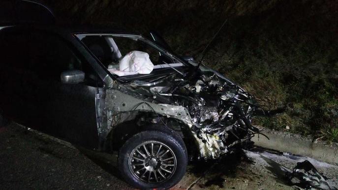Mor el conductor d'un turisme en un xoc frontal a la Segarra
