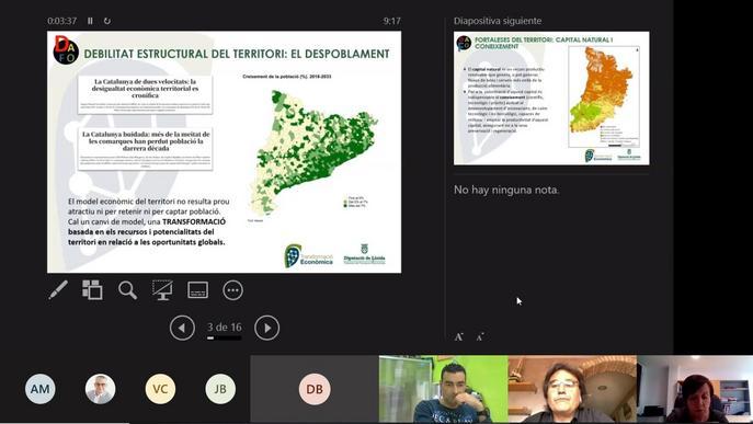 La Diputació vol fomentar el creixement i transformació econòmica de Lleida