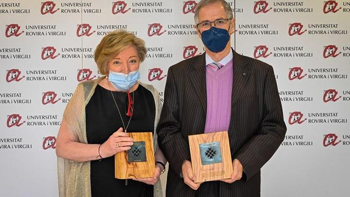 Joan Viñas rep la Medalla d'Honor de la Xarxa Vives