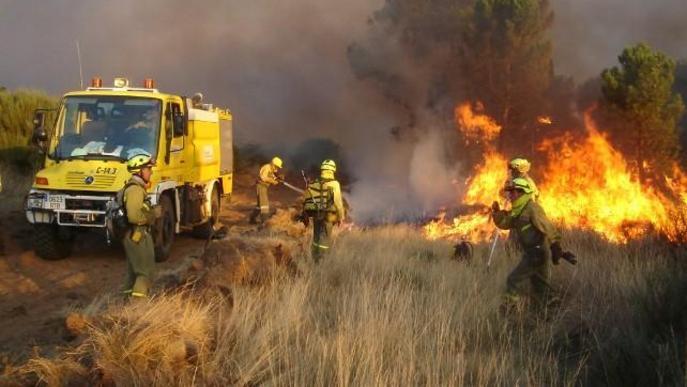 L'incendi forestal de la Ribera d'Ebre afecta unes 5.700 hectàrees