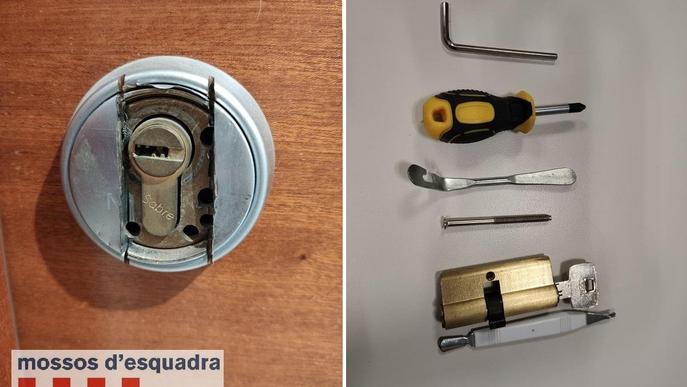 Un mosso fora de servei deté dues persones a Lleida per dos robatoris al carrer Camí de Picos