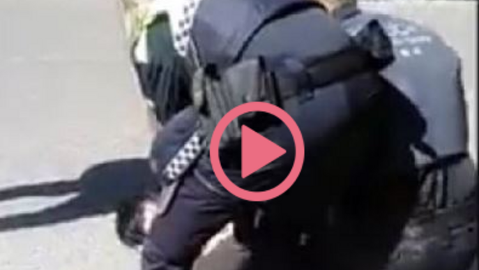 Polèmica a Balaguer per un vídeo on es veu la Policia Local reduint i colpejant un jove a terra