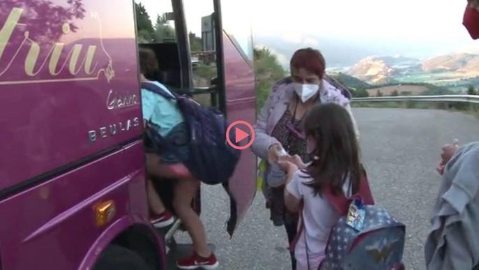 El transport escolar reprèn el servei amb protocols