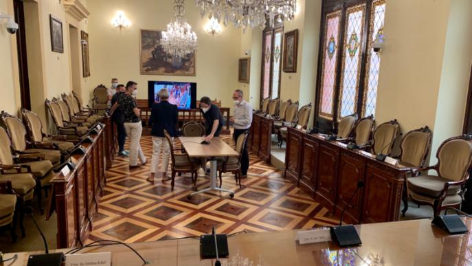 La Diputació prepara un Ple híbrid, amb presència física al Saló de Plens i via telemàtica