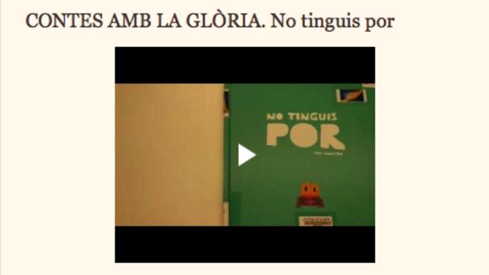 'Contes amb la Glòria', una de les iniciatives per aquest dies de confinament