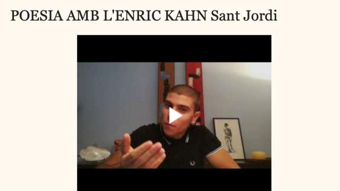 'Poesia amb l'Enric Kahn' per aquest Sant Jordi