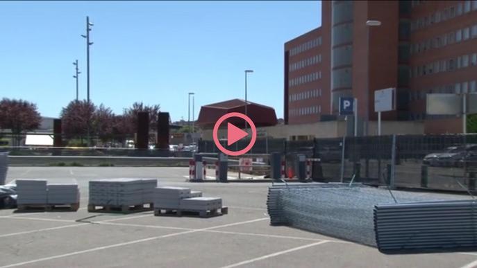 Comencen a portar material per a l'hospital annex a l'Arnau de Vilanova