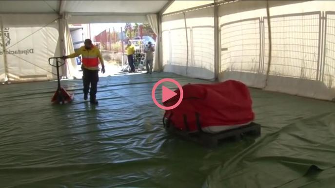 Retiren la carpa del SEM de l'Arnau de Vilanova per instal·lar-hi 4 mòduls prefabricats