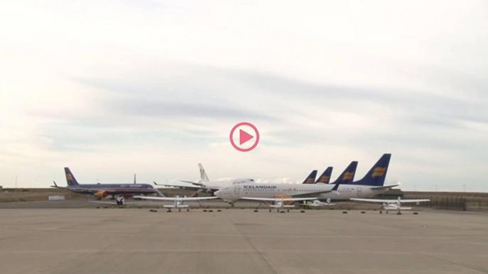 ⏯️ L'aeroport de Lleida amb el 'pàrquing' al màxim d'ocupació