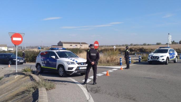 Controls policials a la carretera. Arxiu