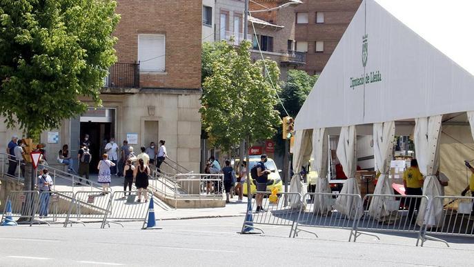 Salut retirarà la carpa de suport al CUAP de Prat de la Riba de Lleida