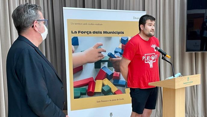 La Diputació rep al CB Lleida per celebrar l'ascens a Lliga 2