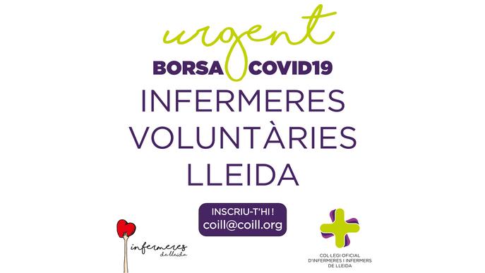 Crida urgent per captar infermeres voluntàries a les comarques de Lleida