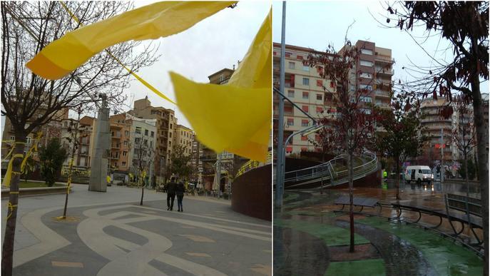 Lleida s'omple de llaços grocs, que la Paeria retira en un dia