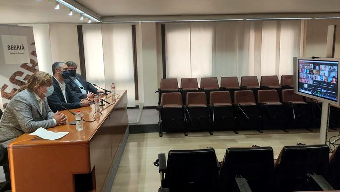 El consell comarcal del Segrià rep la visita de Bernat Solé
