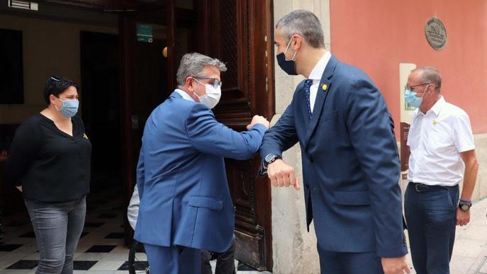 Visita institucional del conseller d'Acció Exterior, Bernat Solé, a la Diputació