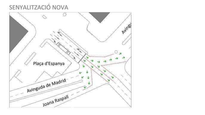 Canvi de la senyalització entre plaça d'Espanya i avinguda Catalunya de Lleida