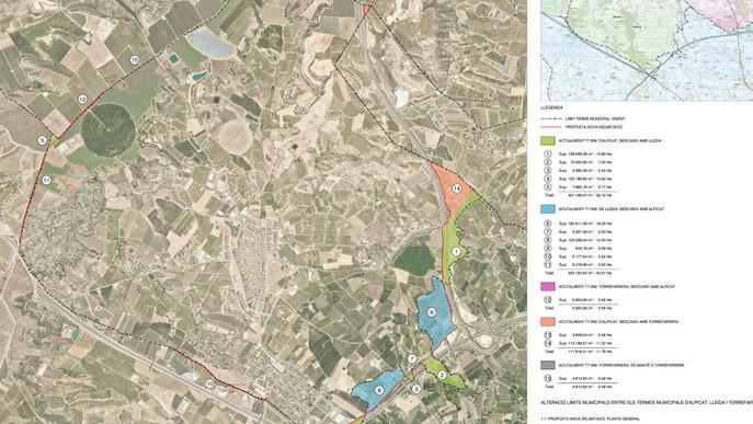 Lleida modifica els límits del seu terme municipal