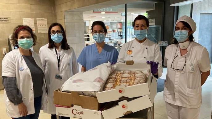Els esmorzars als hospitals, més dolços gràcies als Forners de Lleida