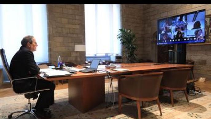 Torra demana unió als alcaldes de la Noguera per superar la crisi de la Covid-19