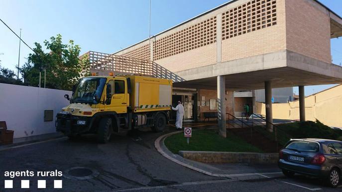 Els Agents Rurals desinfecten zones sensibles del Baix Segrià