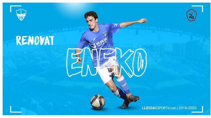 El Lleida Esportiu renova Eneko fins al 2022