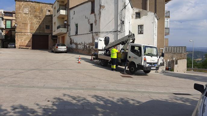 Sis municipis de la Segarra inicien la renovació de l'enllumenat públic