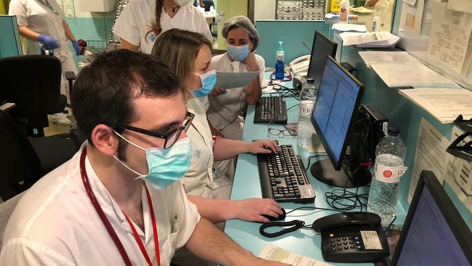 Imatge arxiu Arnau de Vilanova - Treballadors administració infermeria hospital