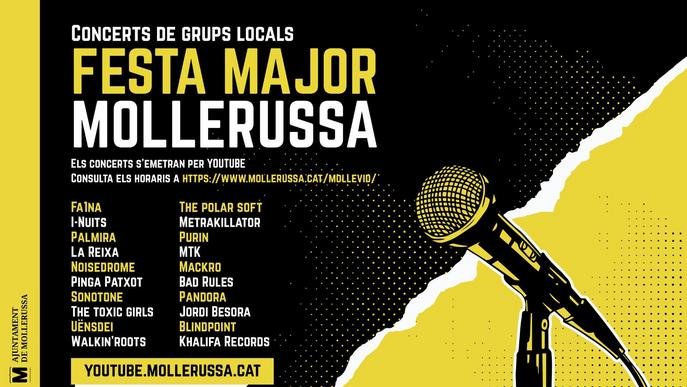 Mollerussa programa 10 hores de música a YouTube amb 20 grups de proximitat per celebrar la Festa Major