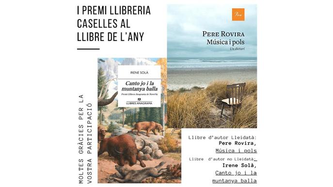 Pere Rovira i Irene Solà guanyen el I Premi Caselles al llibre de l'any