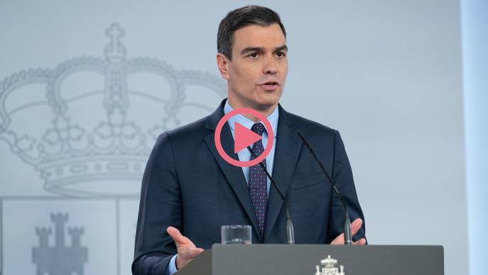 Arxiu vídeo Pedro Sánchez president govern espanyol