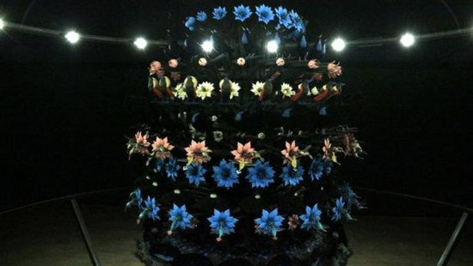 Pla obert d'una obra de Mat Collishaw, de l'exposició 'The End of Innocence', a la Fundació Sorigué de Lleida