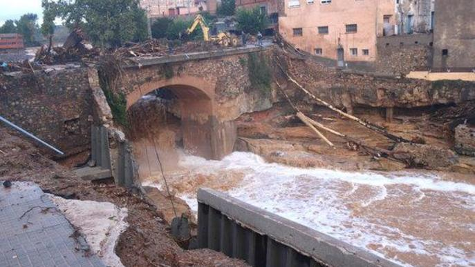 ACA analitza la principal causa dels danys provocats per la riuada de fa un any a Espluga de Francolí