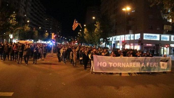 #SentènciaProcés: Mig miler de persones es manifesten a Lleida en suport als detinguts durant el tall de la Jonquera