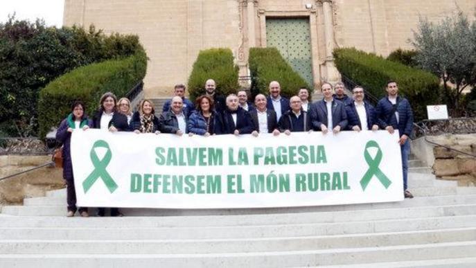 """Sindicats, patronals i ajuntaments esperen una manifestació """"històrica"""" en defensa del món rural"""